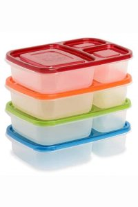 Colorful Easy Lunch Boxes stacked
