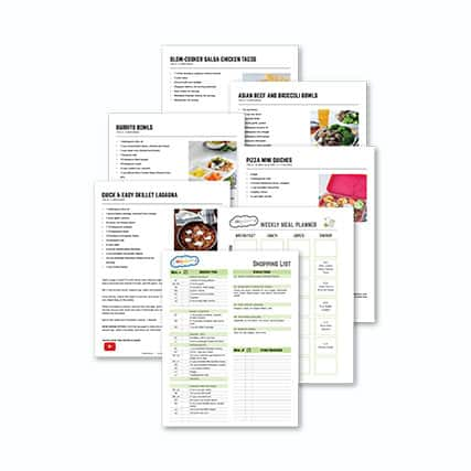meal plan sheets
