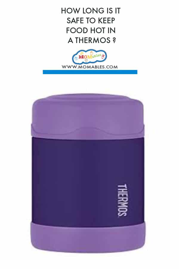Purple thermos lunch