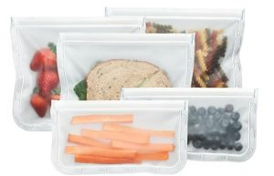 Reusable zip lock bags for everything from snacks to sandwiches