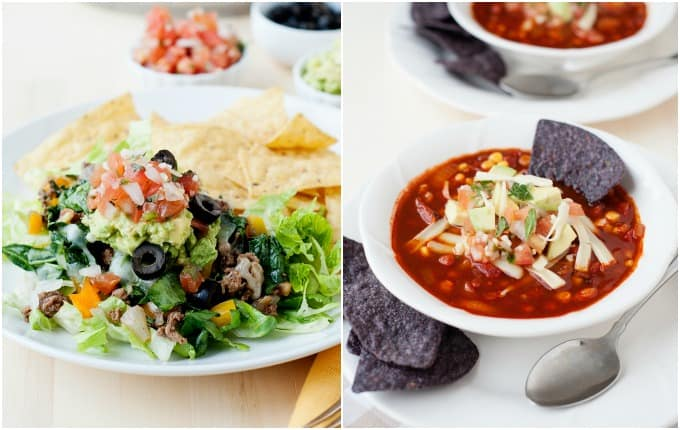 cheesy taco skillet and enchilada soup