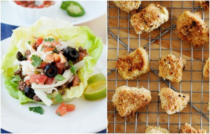 Taco Stuffed Lettuce Cups and Copy cat Chick fil a nuggets