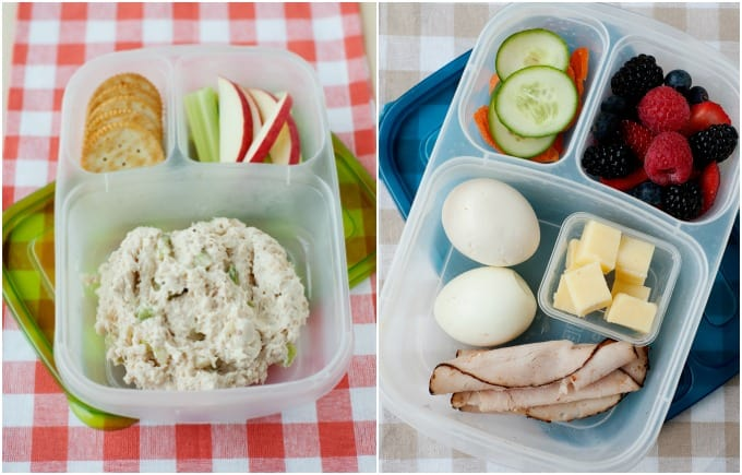 chicken salad and hard-boiled eggs bistro box