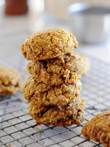 Pumpkin Pie Breakfast Cookies