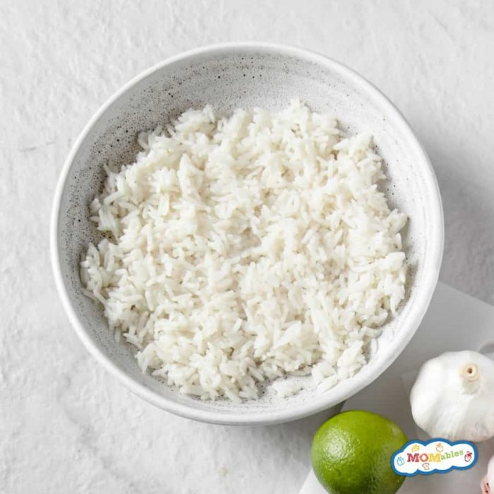 image: white bowl of cooked rice