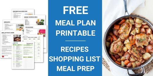 image: meal plan printable