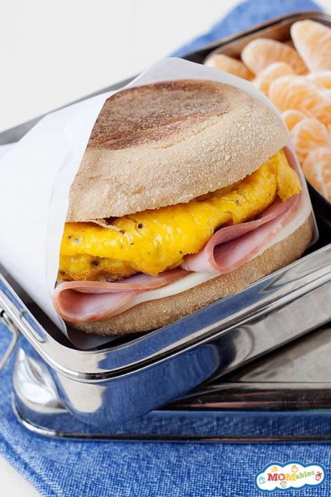 Image:Homemade Egg McMuffin in a tin lunch box