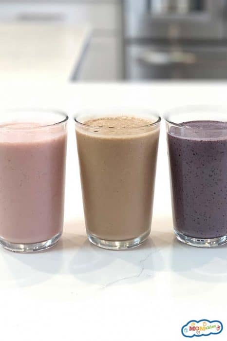 image: three smoothies in a row