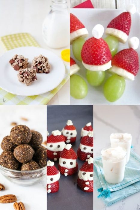 collage of christmas snack ideas