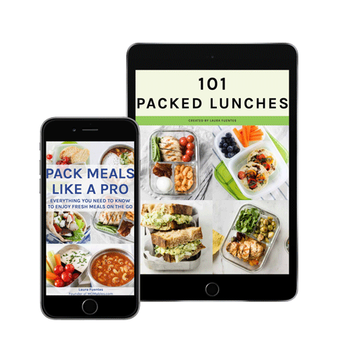 lunch ebook on a phone screen
