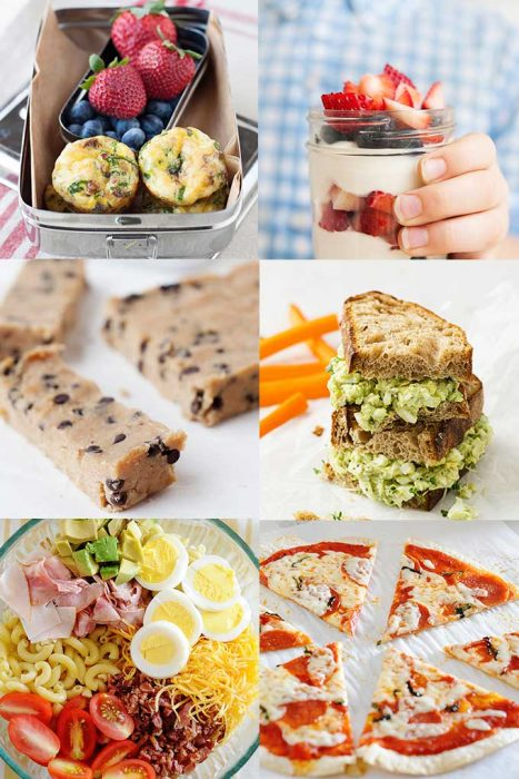 photo collage of easy recipes for kids