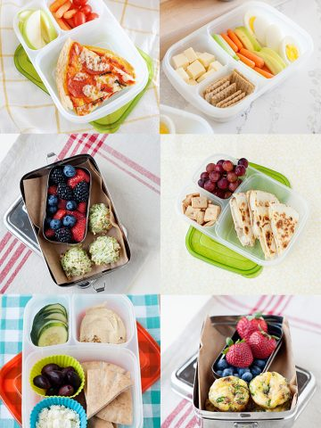 six images of lunch ideas for kindergarten age kids