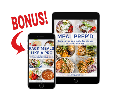 meal prep book on a tablet