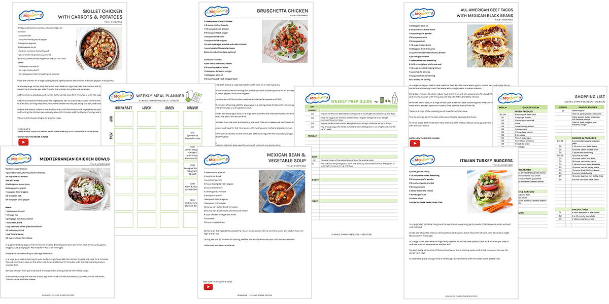 momables meal plan sheets