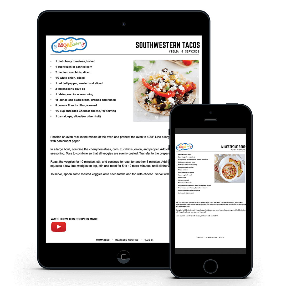 meatless recipes in iphone and ipad