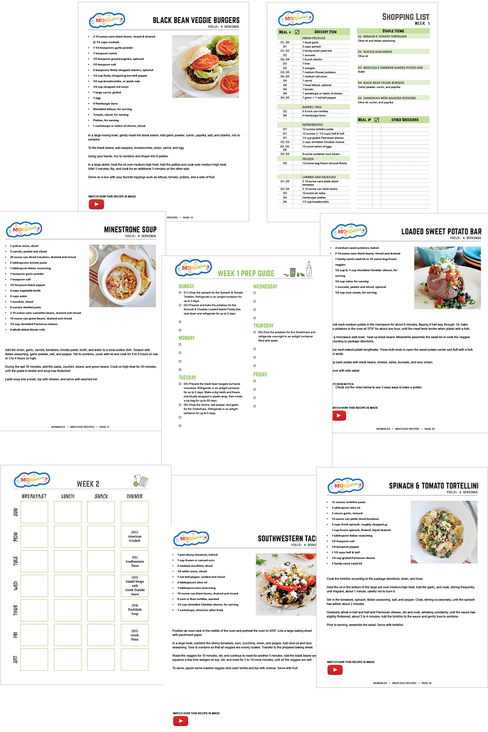 meatless meal plan for families