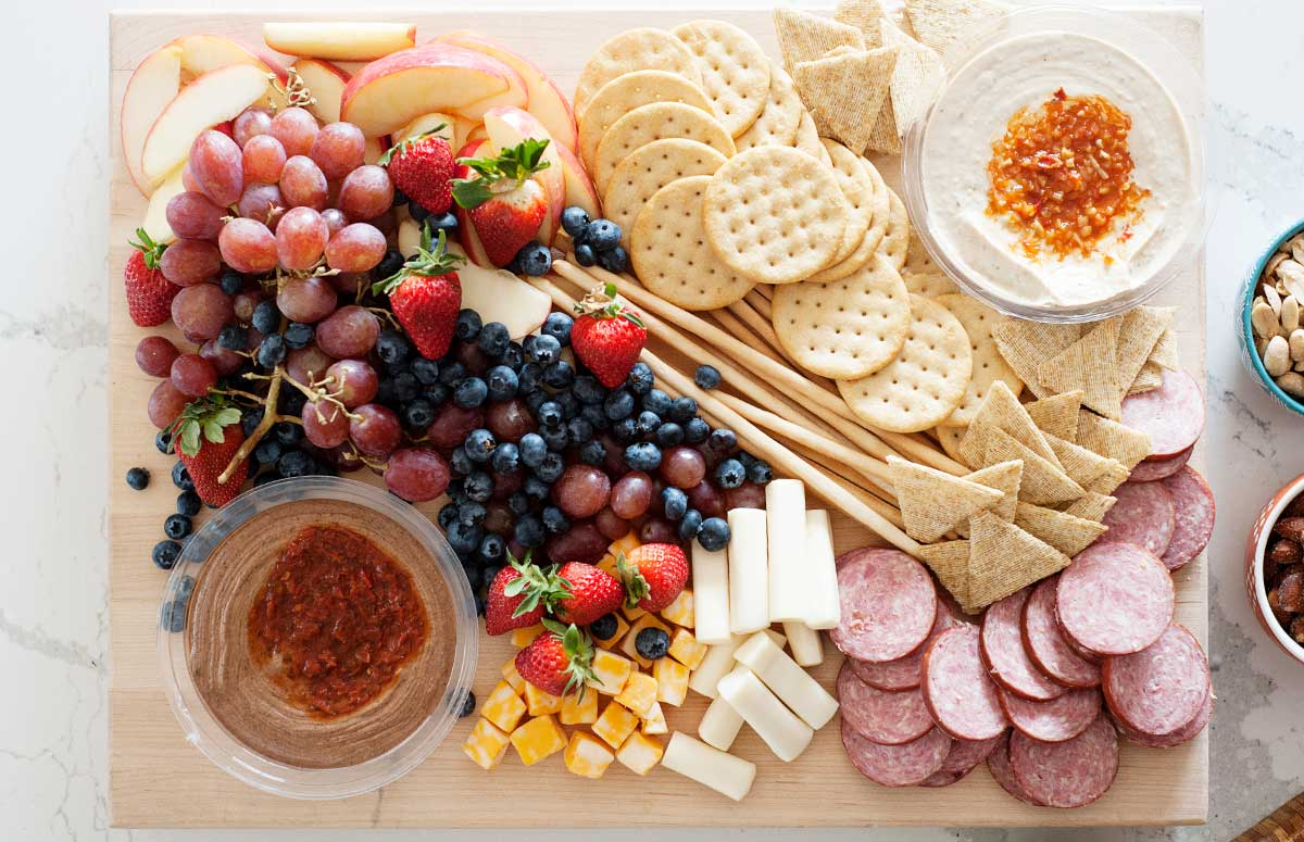 charcuterie snack board for kids